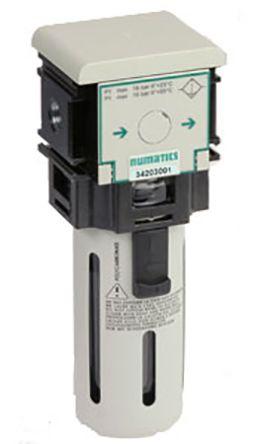 Asco 342 25μm 1050L/min G 1/4 Pneumatic Filter, Semi Automatic, 1.2 → 8bar