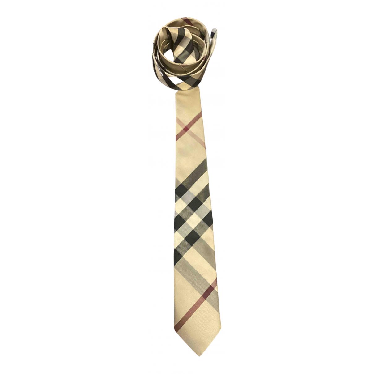 Burberry \N Krawatten in  Beige Seide