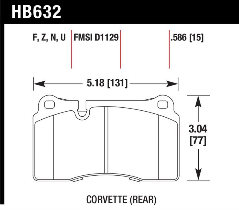 Hawk Performance HB632N.586 Disc Brake Pad