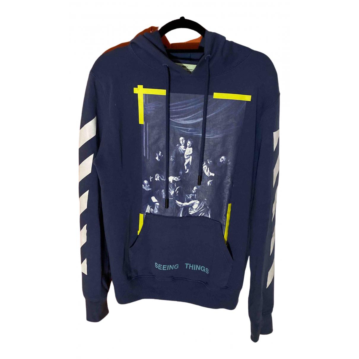 Off-white \N Pullover.Westen.Sweatshirts  in  Blau Baumwolle