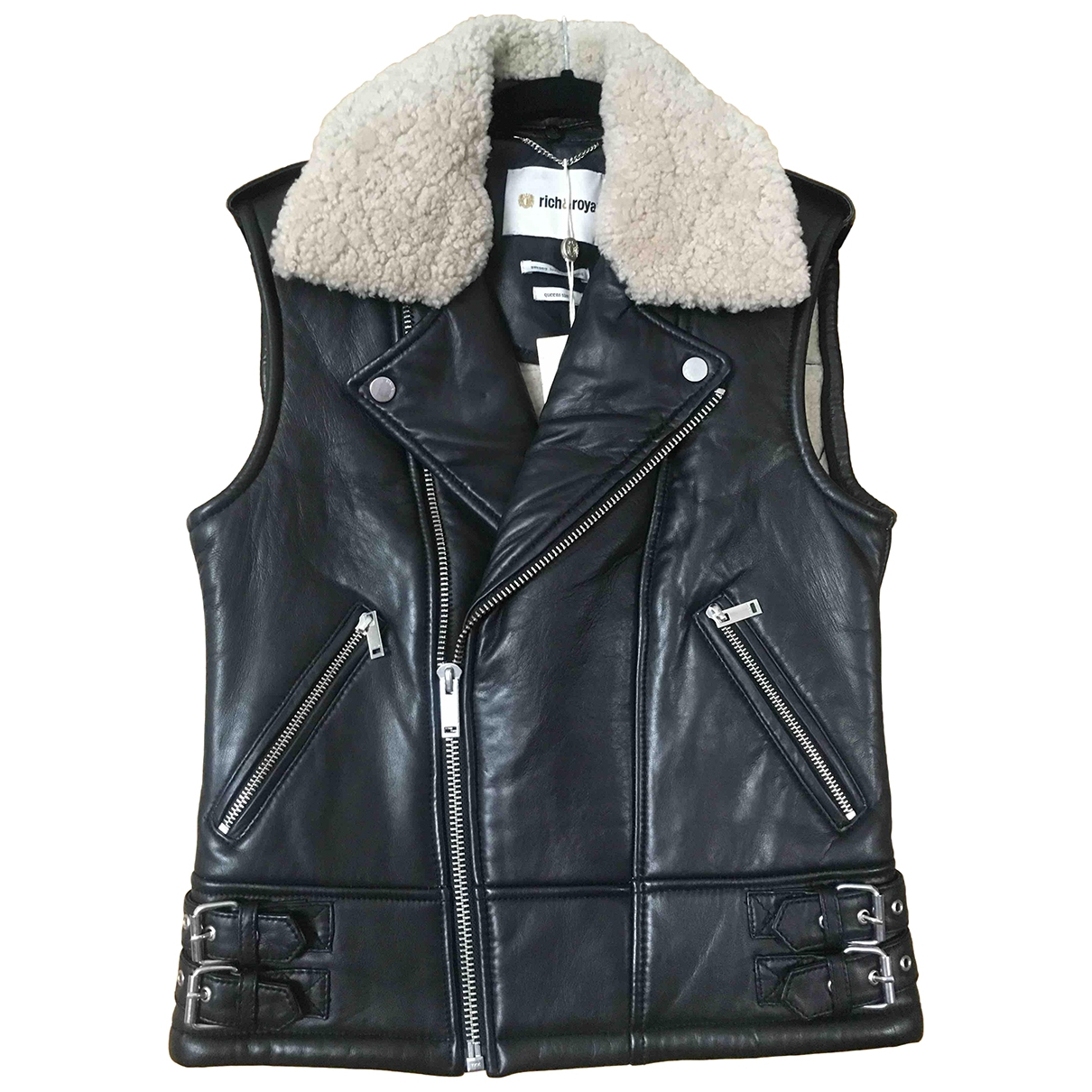 Non Signé / Unsigned \N Black Leather jacket for Women S International