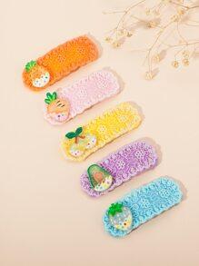 5pcs Toddler Girls Fruit Decor Hair Clip