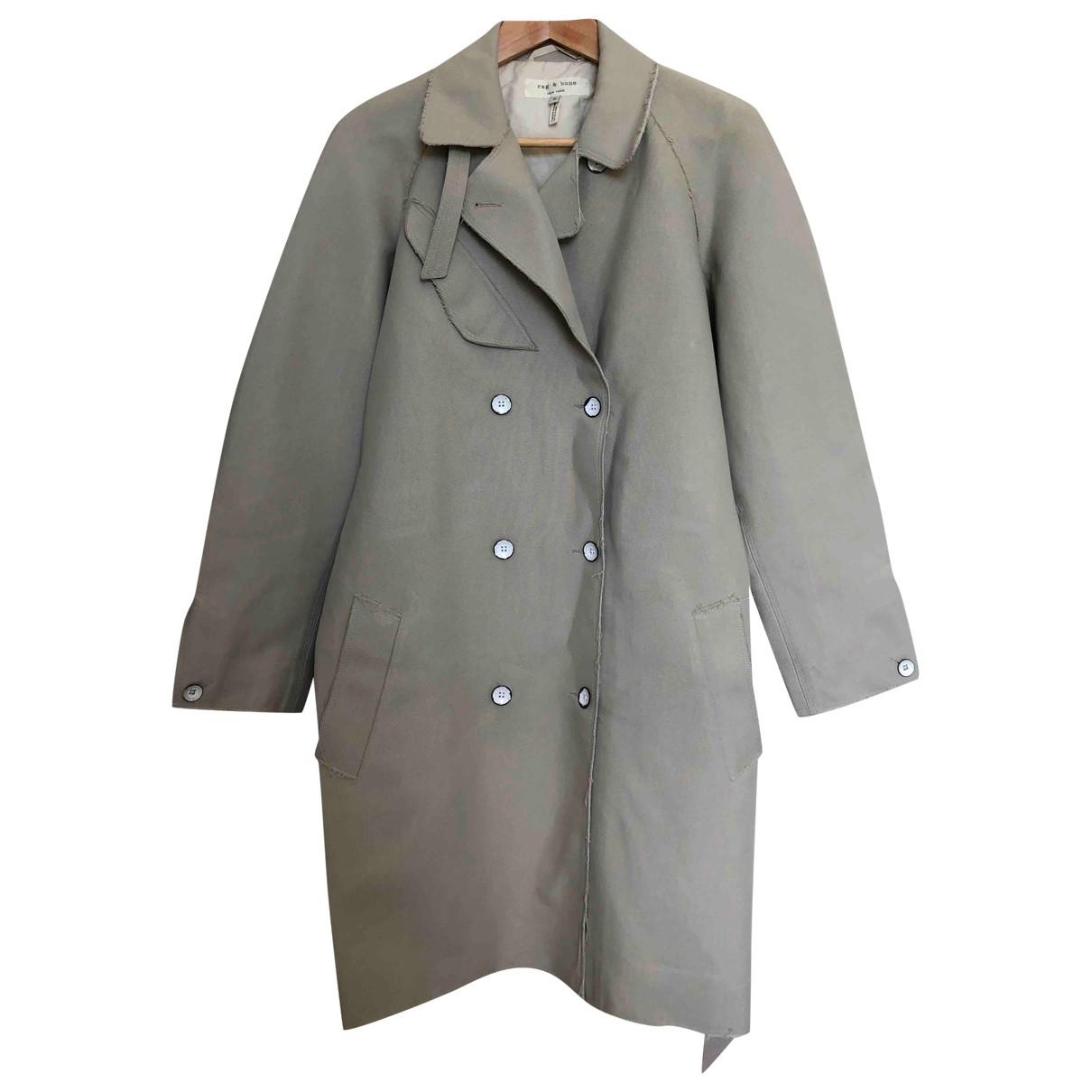 Rag & Bone - Manteau   pour femme en coton - ecru