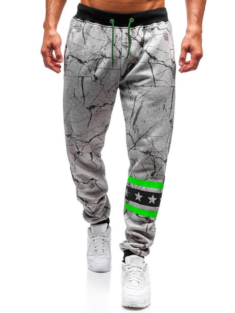 Ericdress Lace-Up Color Block Mid Waist Men's Casual Jeans