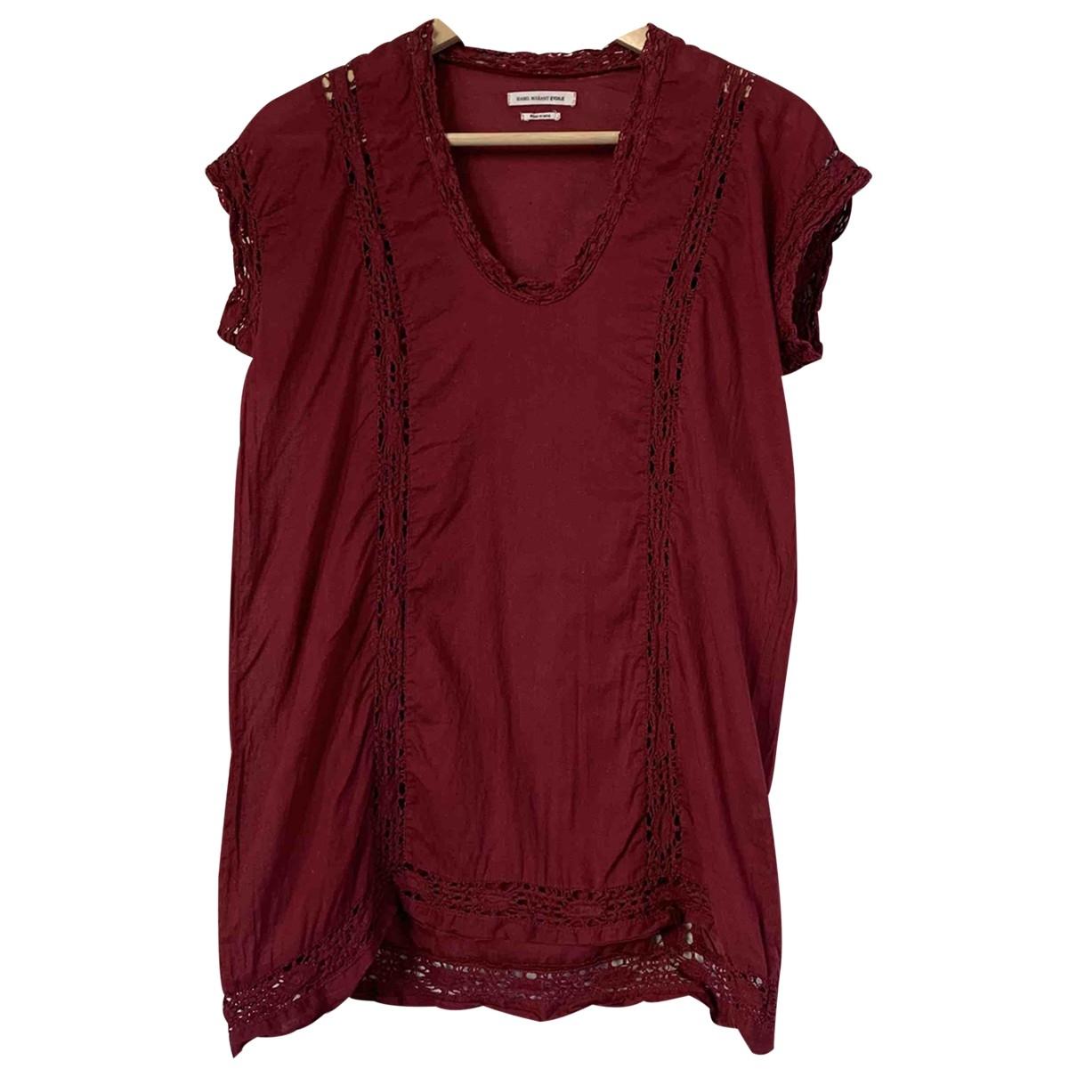 Isabel Marant Etoile - Top   pour femme en coton - bordeaux