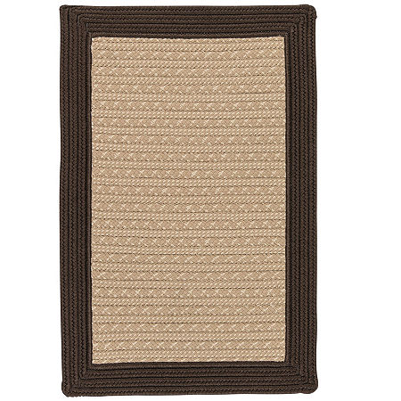 Colonial Mills Patriot Border Reversible Braided Rug, One Size , Brown