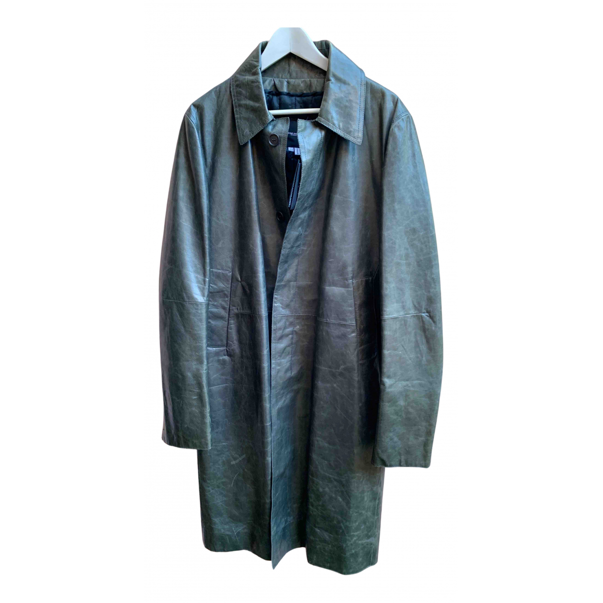 Costume National N Grey Leather coat  for Men 52 IT