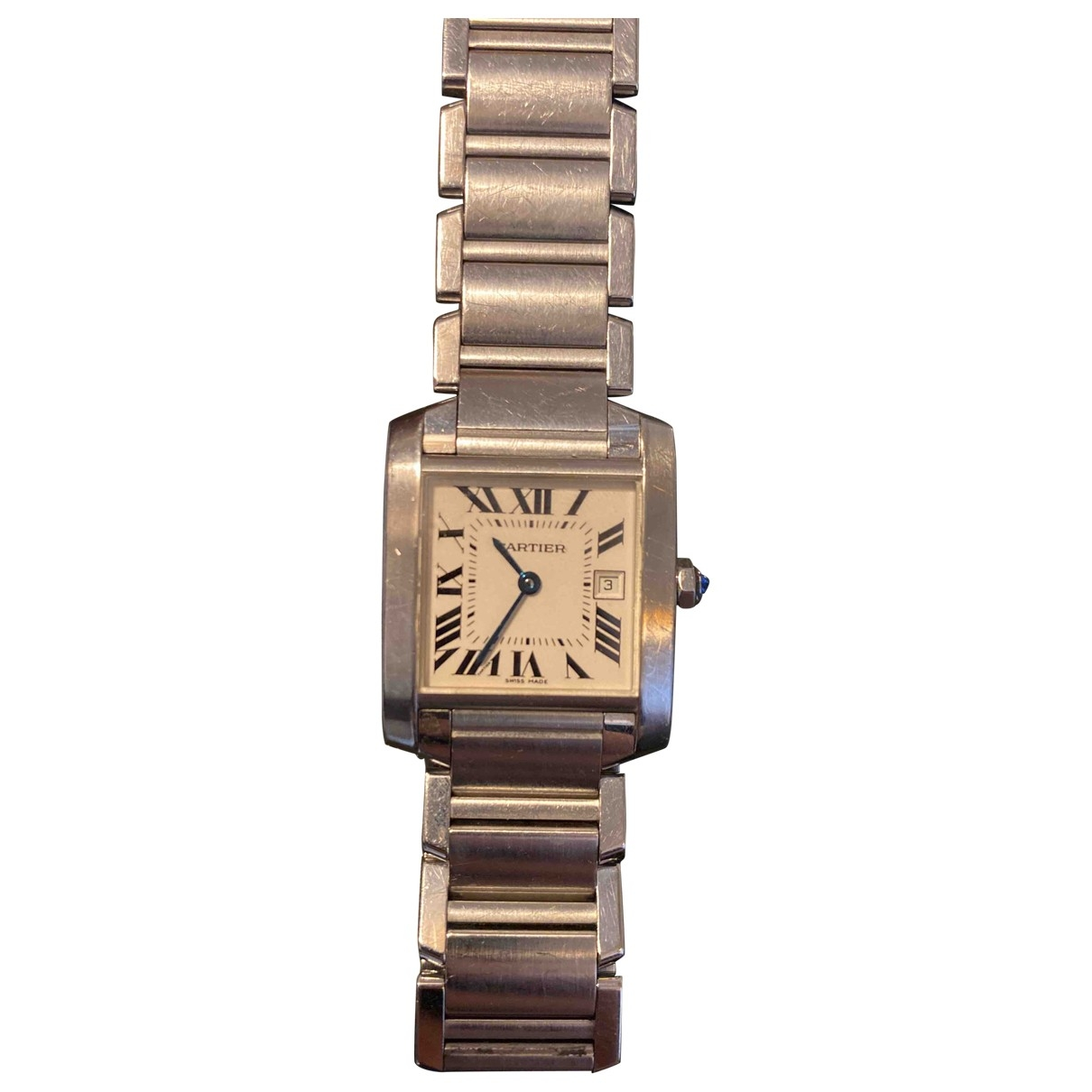 Cartier Tank Française Silver Steel watch for Women \N