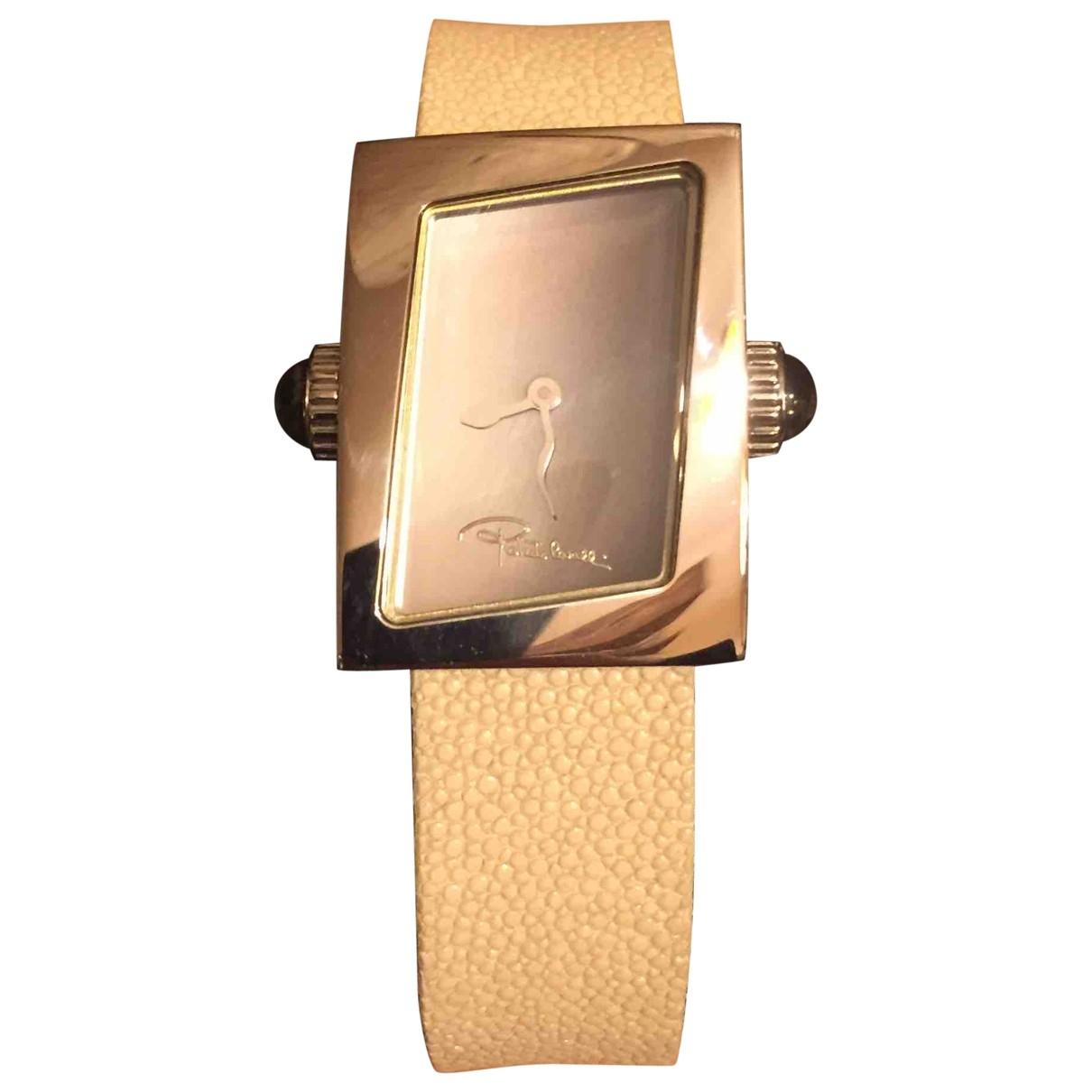 Roberto Cavalli \N Beige Steel watch for Women \N