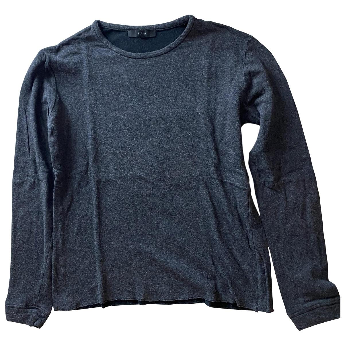 Iro \N T-Shirts in  Anthrazit Baumwolle