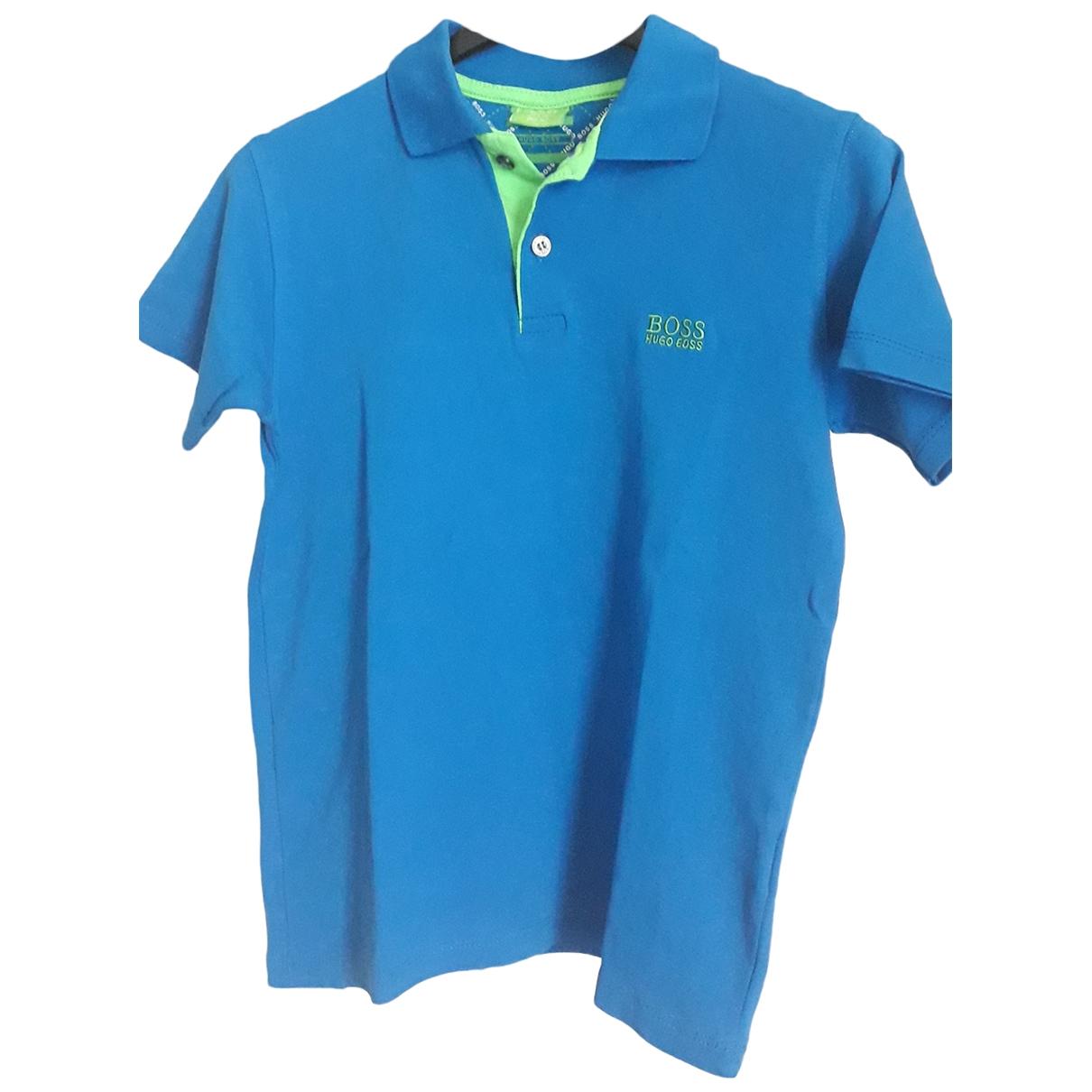 Boss - Top   pour enfant en coton - turquoise