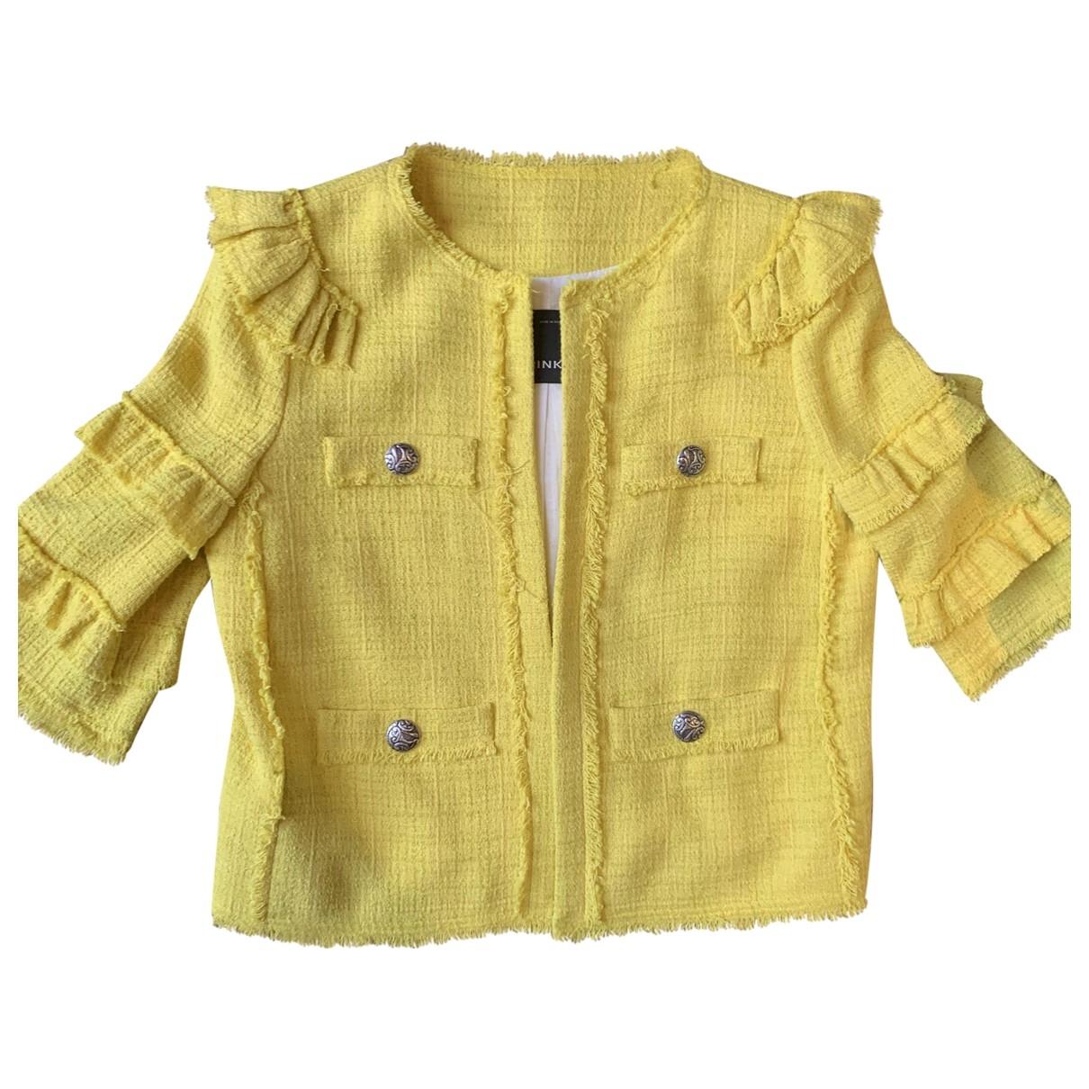 Pinko \N Jacke in  Gelb Baumwolle