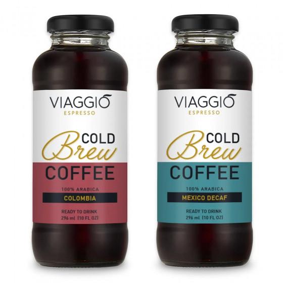 """Kalt gebruehter Kaffee Viaggio Espresso """"Cold Brew Colombia + Mexico Decaffeinato"""", 592 ml"""