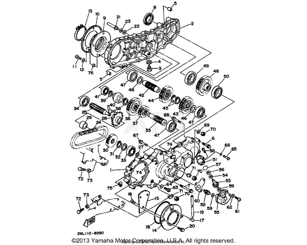 Yamaha OEM 90201-251G8-00 WASHER, PLATE