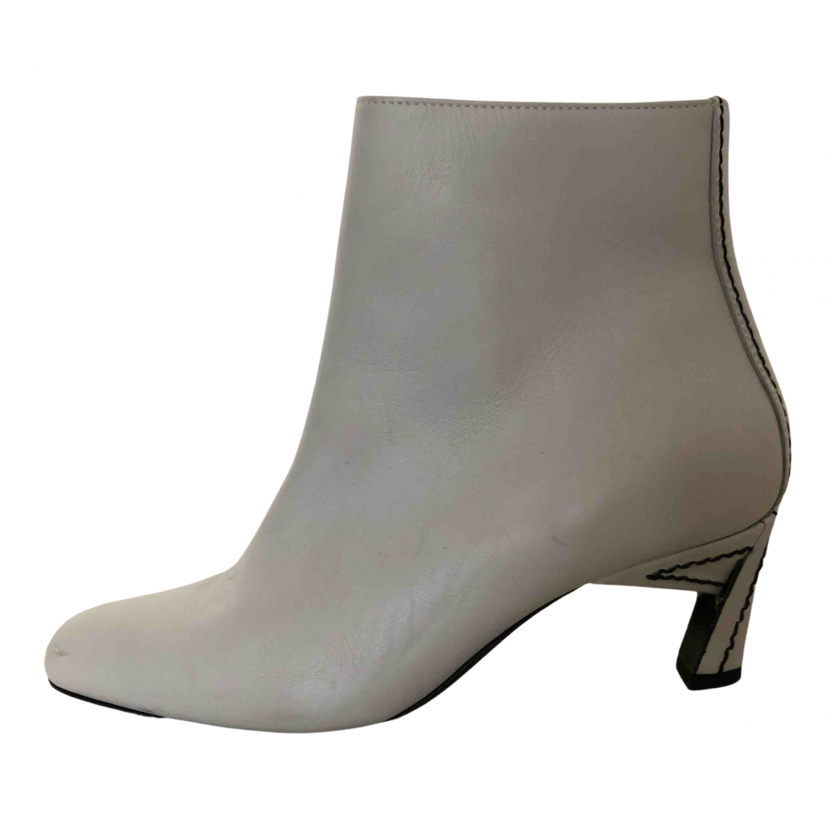 Marni N Grey Leather Ankle boots for Women 37 EU
