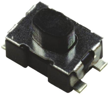 C & K Top Tactile Switch, Single Pole Single Throw (SPST) 50 mA @ 32 V dc 0.5mm