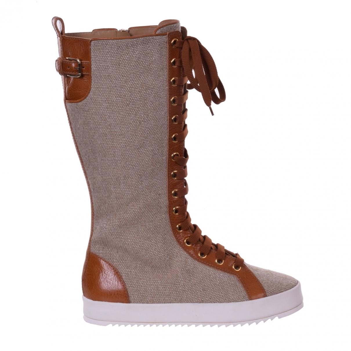 Dolce & Gabbana \N Stiefel in  Braun Leinen