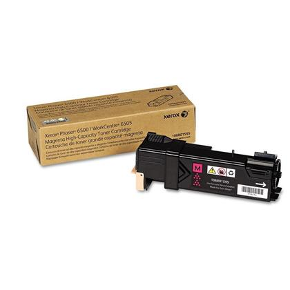Xerox 106R01595 Original Magenta Toner Cartridge High Yield For Phaser 6500 WorkCentre 6505 Printer