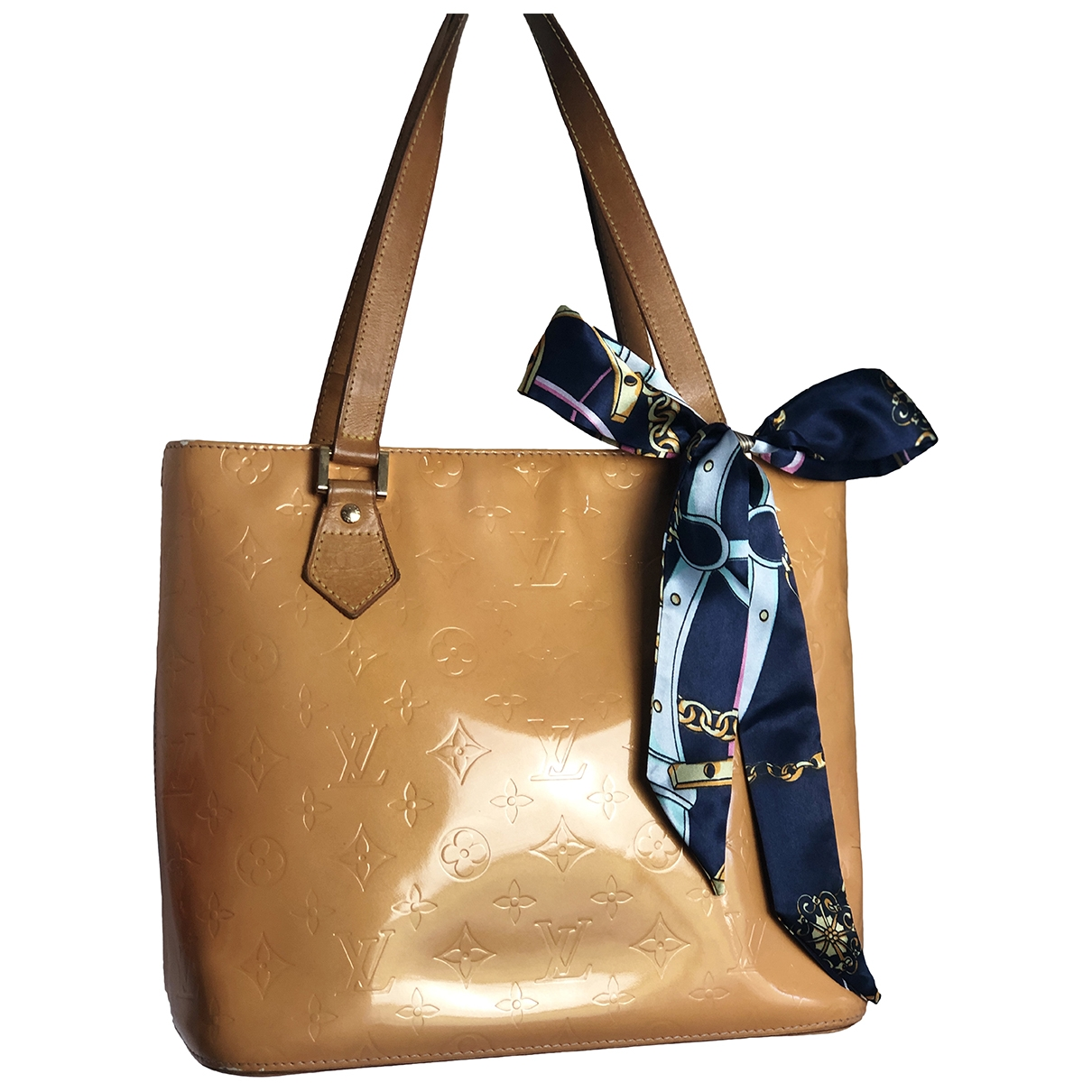 Louis Vuitton Houston Orange Patent leather handbag for Women \N