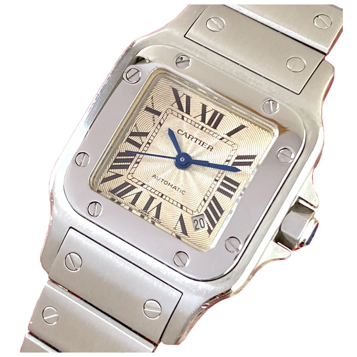 Cartier Santos Galbée Silver Steel watch for Women N