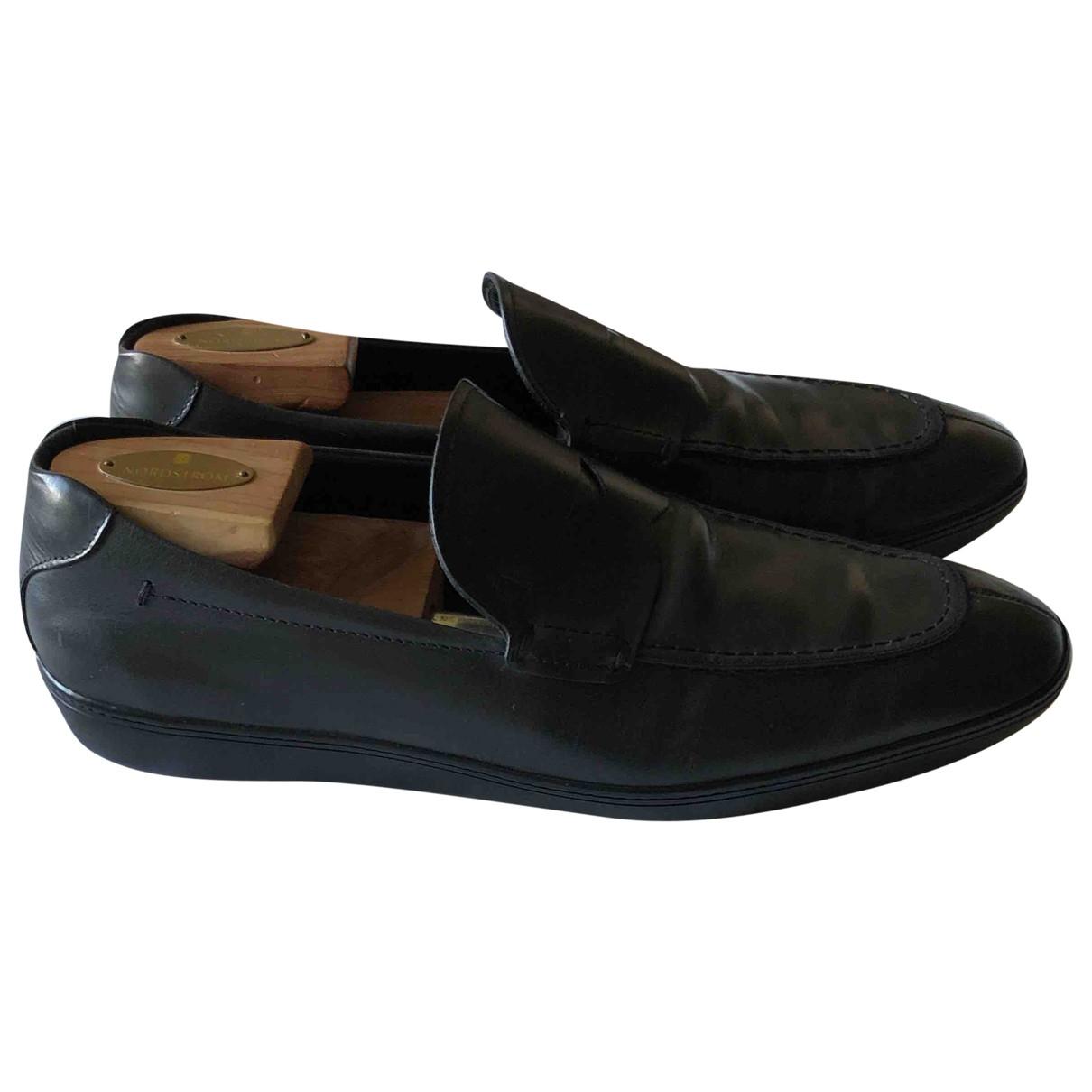 Tod's Gommino Black Leather Flats for Men 8 UK