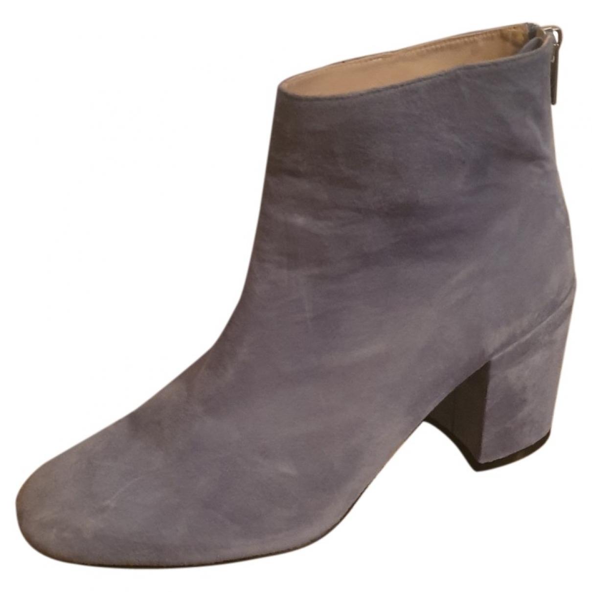 Stuart Weitzman - Boots   pour femme en suede - bleu