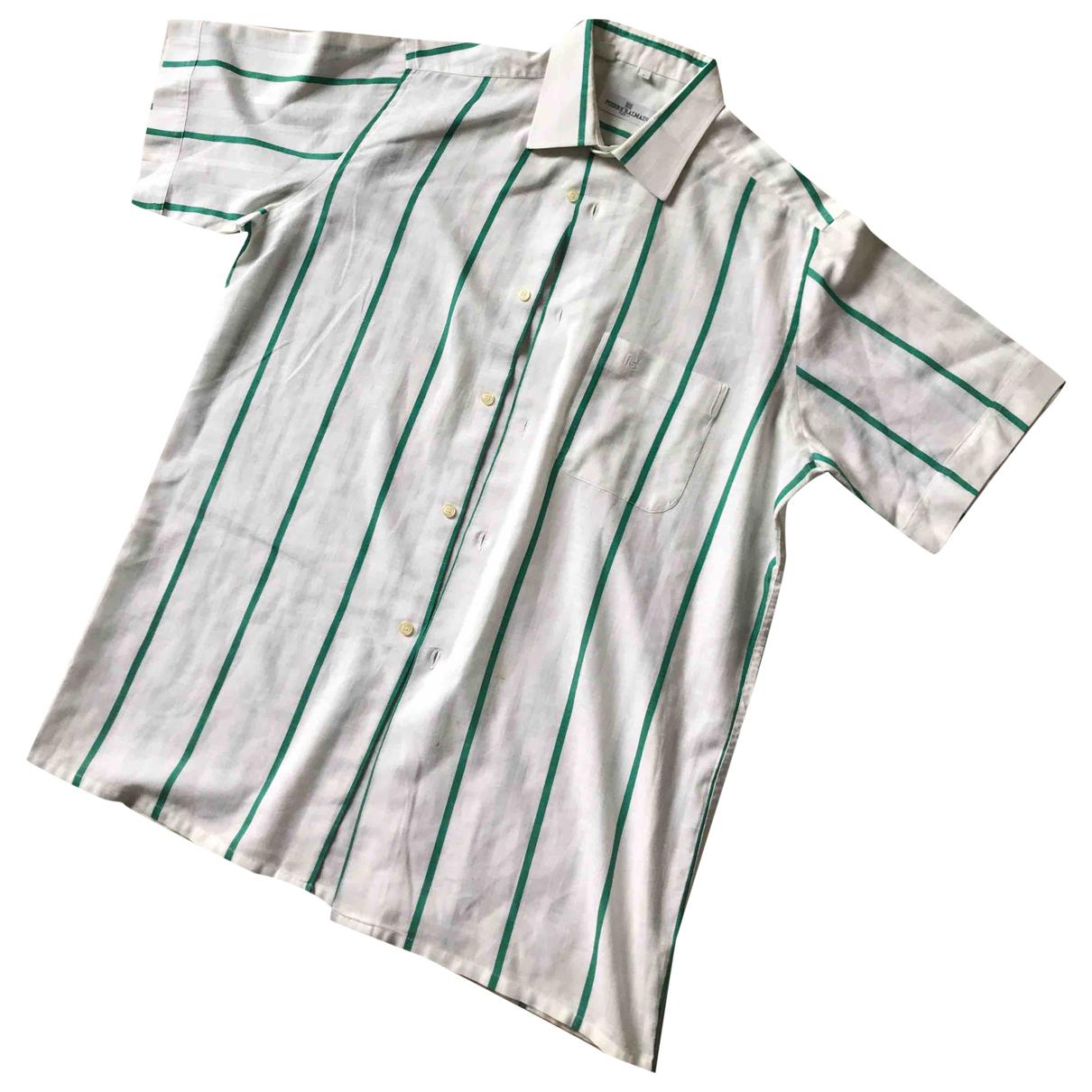 Pierre Balmain \N White Cotton Shirts for Men 43 EU (tour de cou / collar)