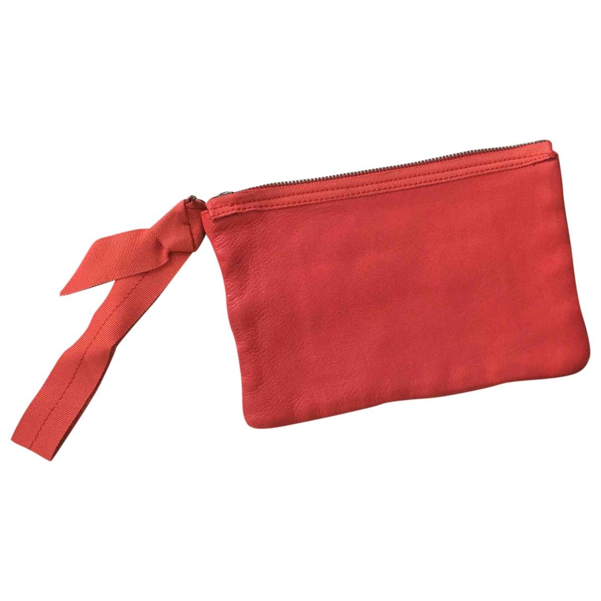 Lanvin \N Clutch in  Rot Leder