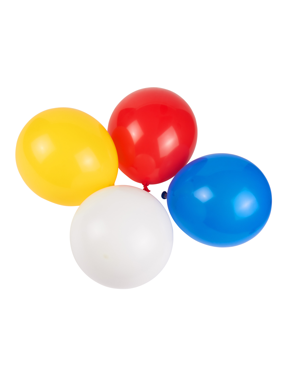 Luftballons Mainzer Farben 50 Stk. Farbe: rot/weiss/blau