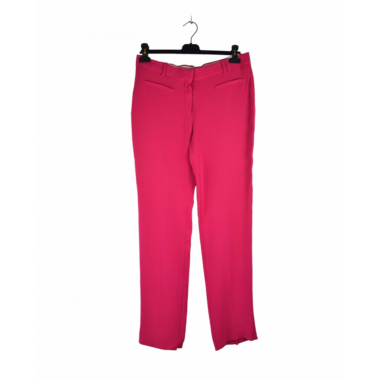 Dior \N Pink Silk Trousers for Women 42 FR