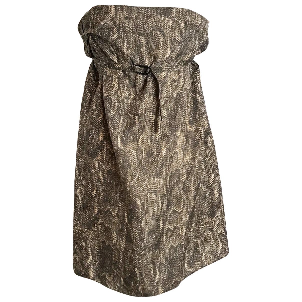 Zimmermann \N Kleid in  Braun Seide