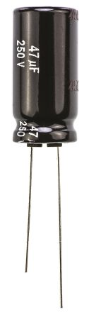 Panasonic 47μF Electrolytic Capacitor 250V dc, Through Hole - EEUEE2E470 (5)