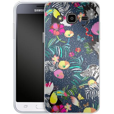 Samsung Galaxy J3 (2016) Silikon Handyhuelle - Jungle Glow von Mukta Lata Barua