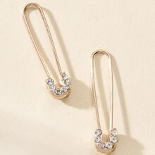 Safety Pin Design Earrings
