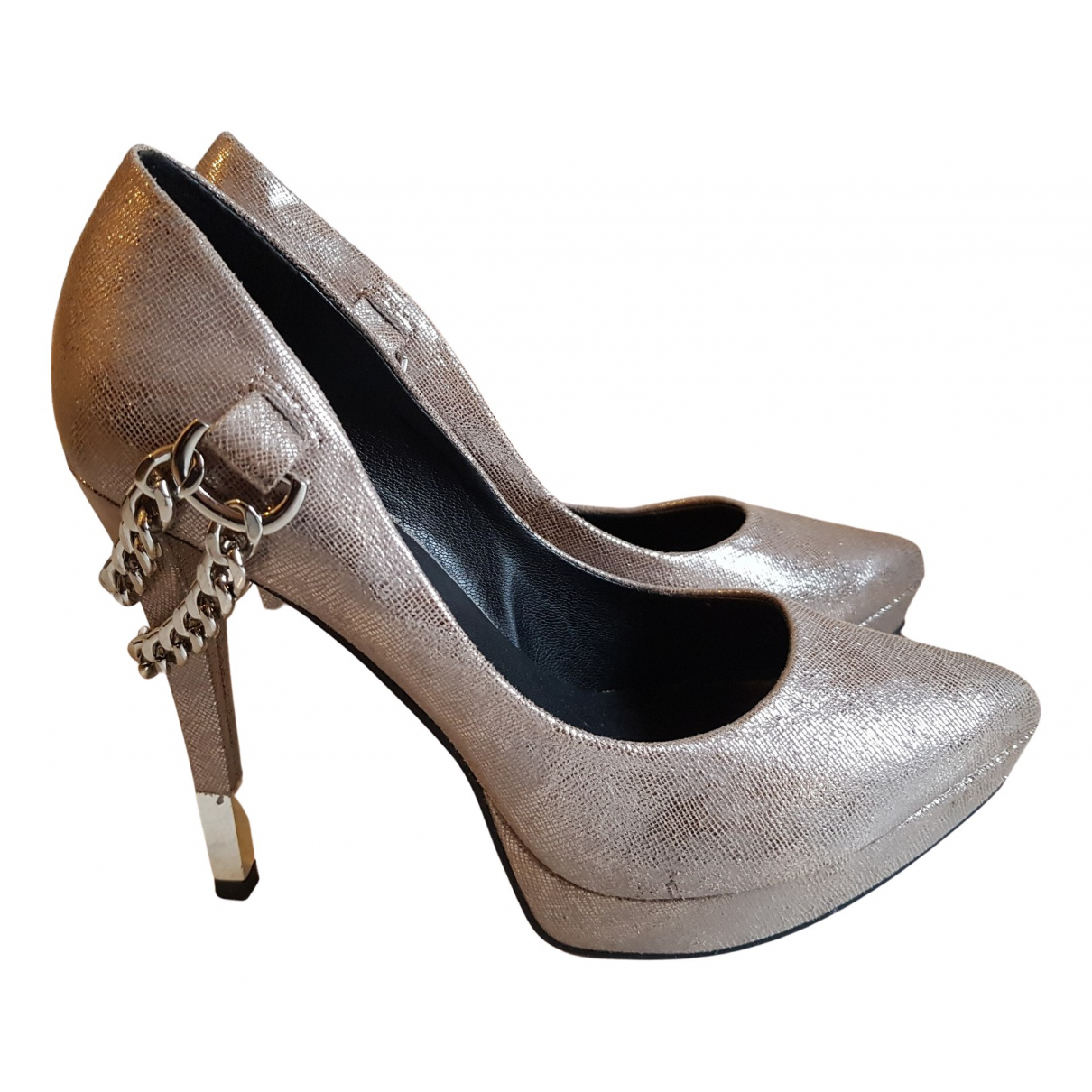 Guess \N Pumps in  Silber Leder