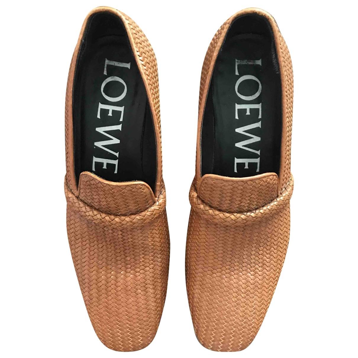Loewe \N Camel Leather Flats for Men 43 EU