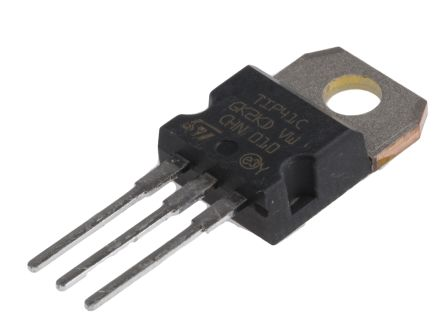 STMicroelectronics TIP41C NPN Transistor, 6 A, 100 V, 3-Pin TO-220 (5)