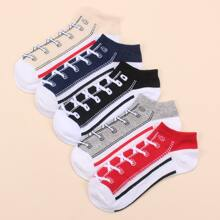 5 Paare Sockchen mit Band