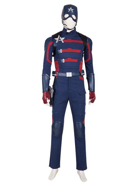 Milanoo Marvel el halcon y el soldado de invierno Capitan America traje Cosplay disfraz Halloween