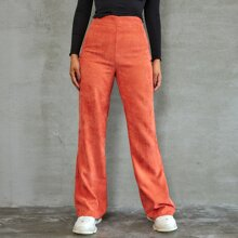 Zip Back Corduroy Pants