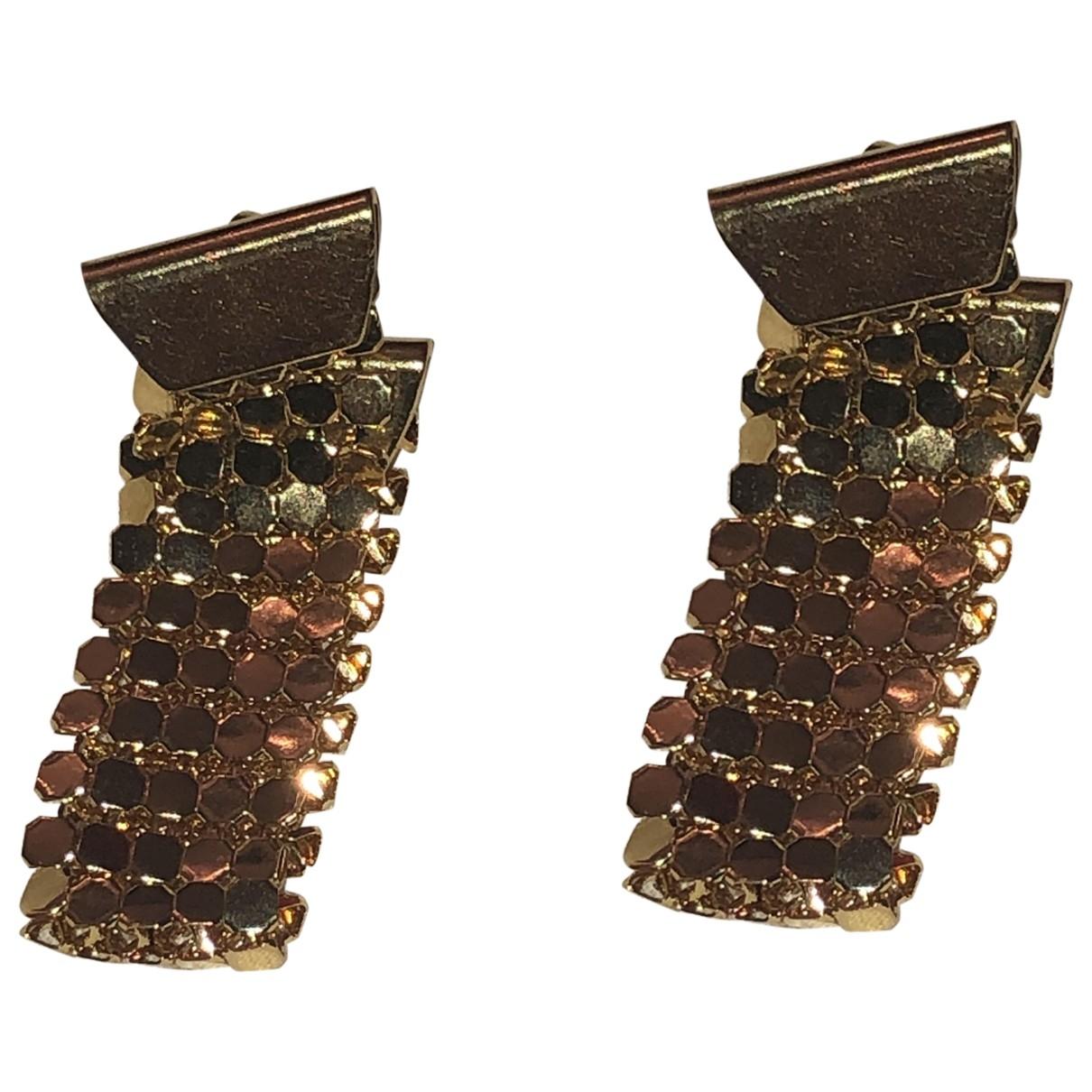 - Boucles doreilles  Maille Americaine pour femme en metal - dore