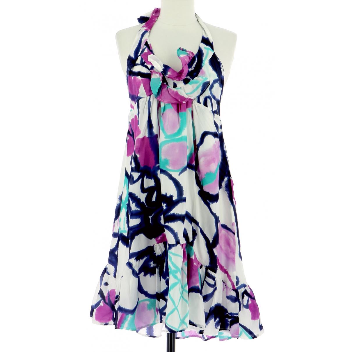 Sandro - Robe   pour femme en soie - multicolore