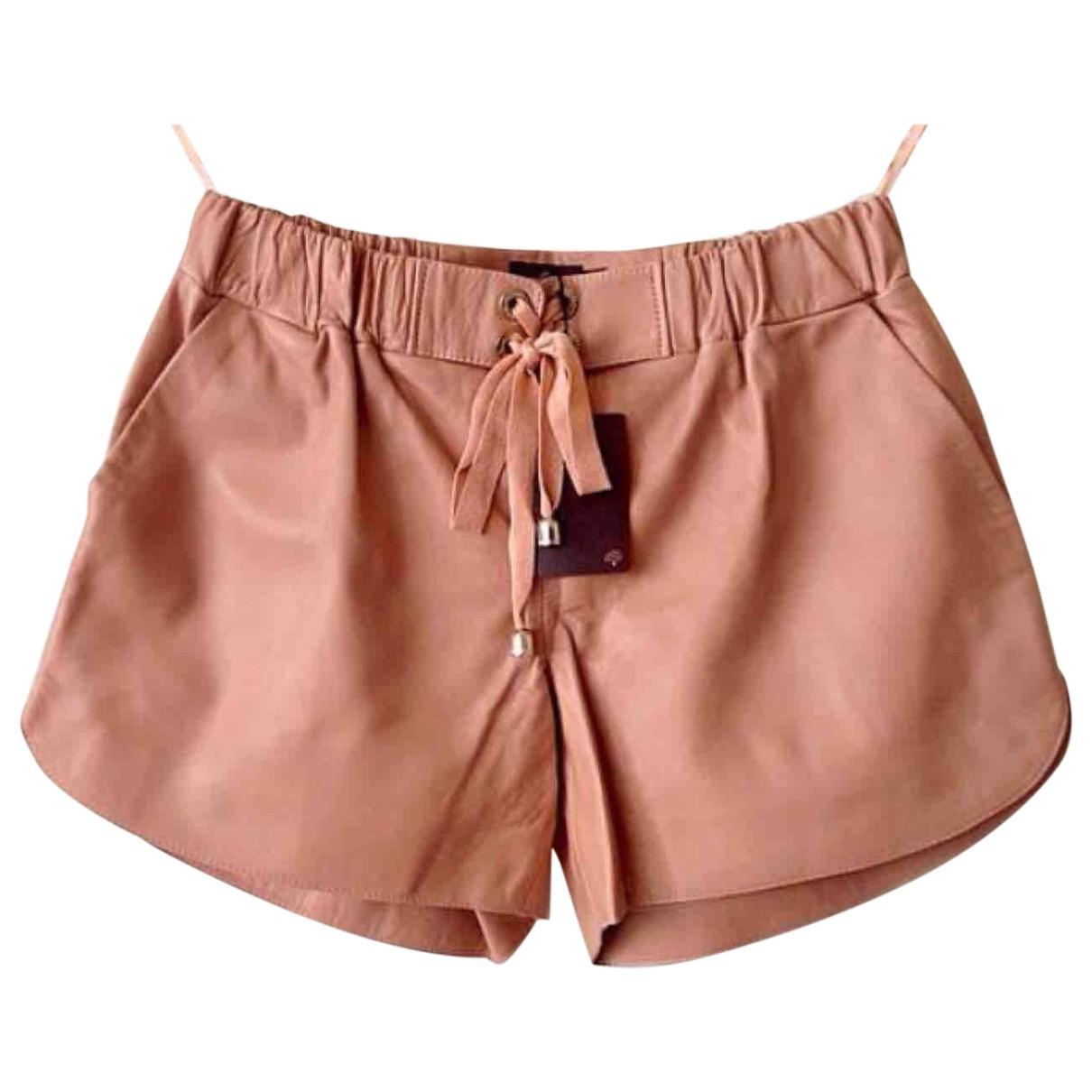 Mulberry \N Shorts in  Rosa Leder