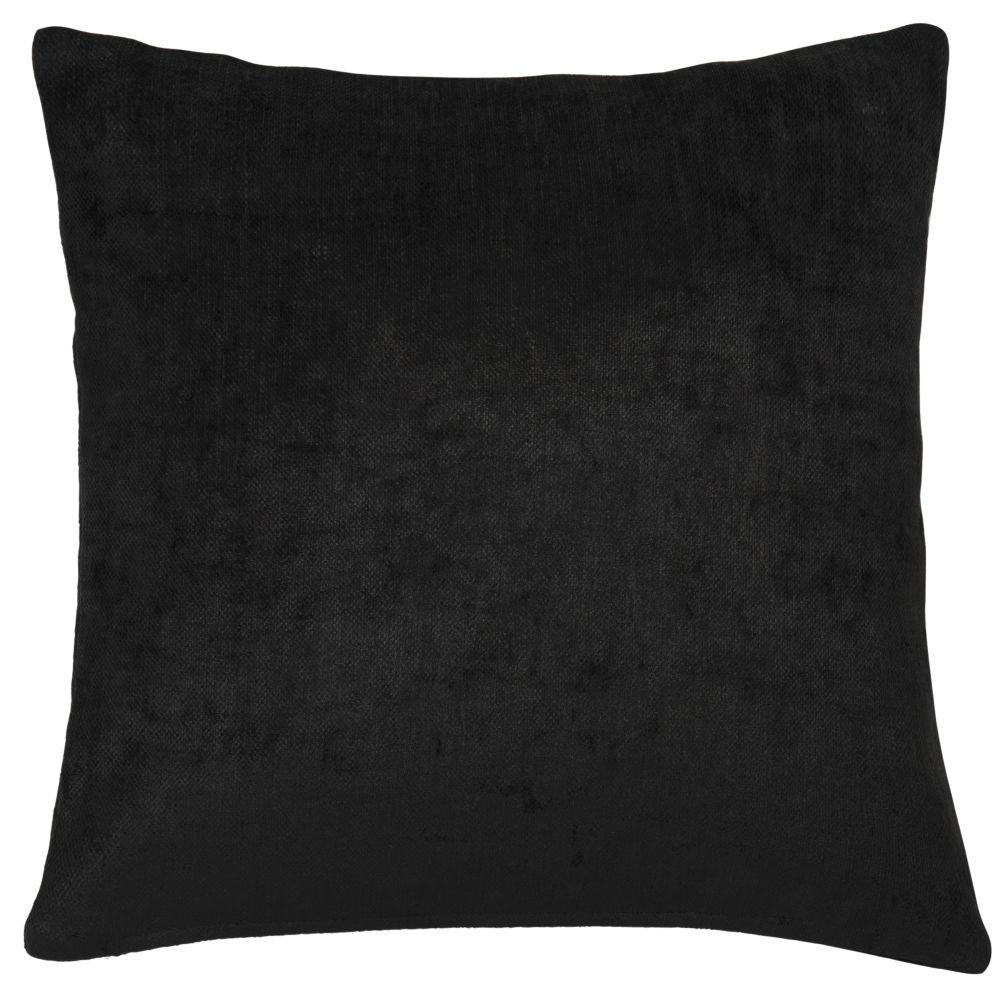 Kissen aus schwarzem Samt 60x60