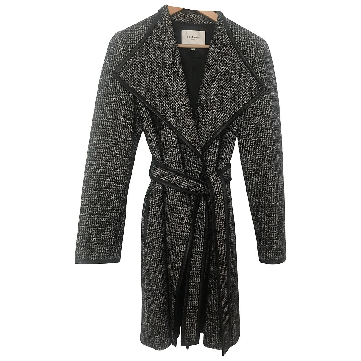 Lk Bennett \N Black Wool coat for Women 10 UK