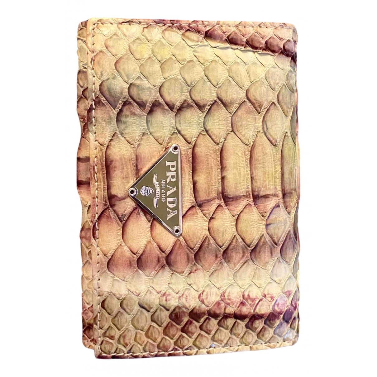 Prada \N Green Python Purses, wallet & cases for Women \N