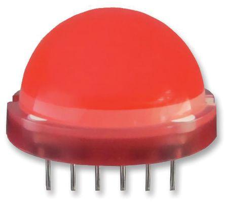 Kingbright 6 → 8 V Red LED 20 mm Through Hole,  BIG LAMP DLC/6SRD (22)