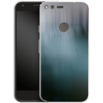 Google Pixel XL Silikon Handyhuelle - Twilight Sea Abstract von Joy StClaire