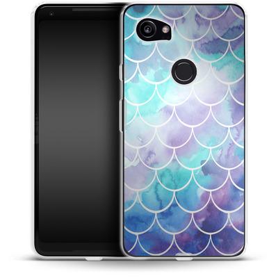 Google Pixel 2 XL Silikon Handyhuelle - Purple Mermaid Scales von Becky Starsmore