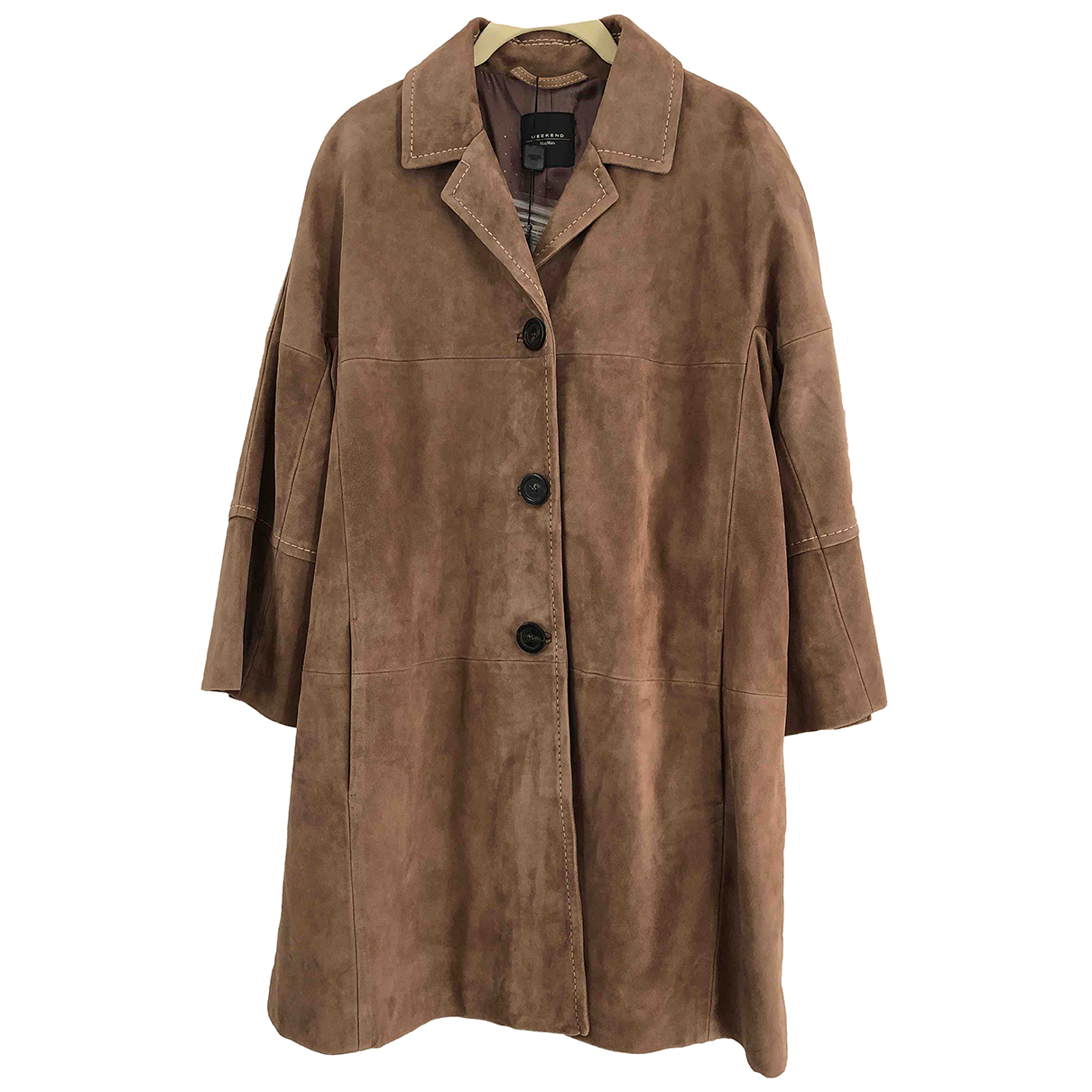 Max Mara Weekend N Brown Suede coat for Women 6 UK